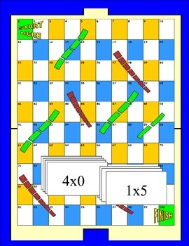 Multiplication X1-X12  Board Game