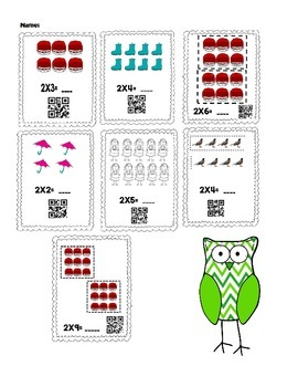 Multiplication X2 Introduction Singapore Math with QR Codes - Beginners