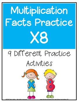 Multiplication Facts X8 Practice Activities
