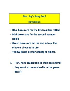 Multiplication Zany Zoo!