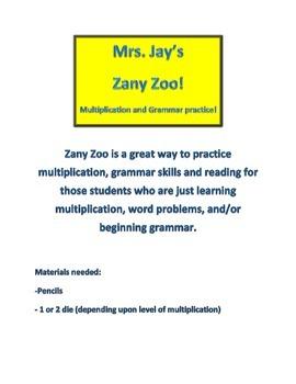 Multiplication Zany Zoo!