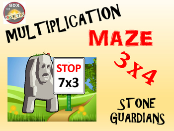 Multiplication activity: Multiplication Maze - Stone Guardians