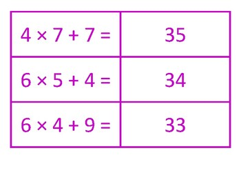Multiplication and Addition Concentration