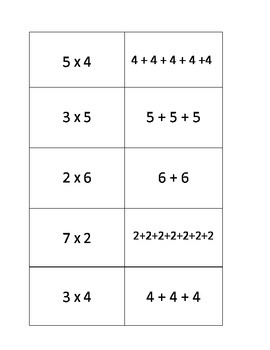 Multiplication and Addition Equation Matching Center