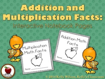 Multiplication and Addition Math Facts