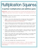 Multiplication and Addition Partner Game