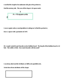Multiplication and Area Review Packet