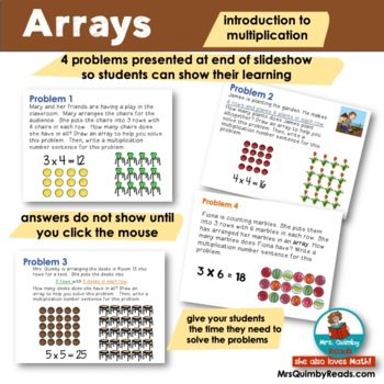 Arrays Powerpoint | Introduction to Multiplication | Interactive Math Activity