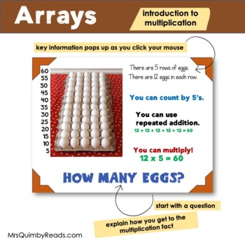 Arrays Powerpoint   Introduction to Multiplication   Interactive Math Activity