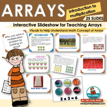 Arrays Powerpoint -  Introduction to Multiplication Grade 3