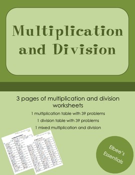 Multiplication and Division
