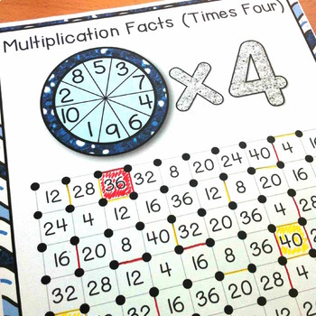 Multiplication and Division Games: Multiplication Facts & Division Facts Squares