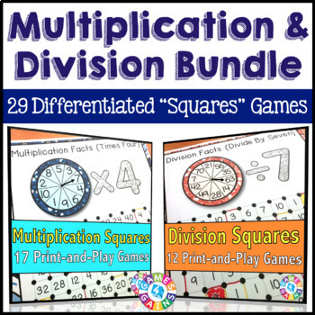 Multiplication and Division Games: Multiplication Facts +