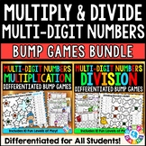 BUMP! Multi-Digit Multiplication and Division Games Bundle