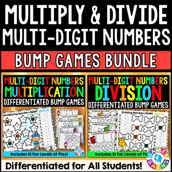 Multiplication and Division Games Bundle: 20 Multi-Digit N
