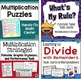 Multiplication and Division Centers, Task Cards, and Games Bundle