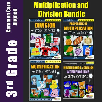 3rd Grade Multiplication and Division Worksheets, Mystery Pictures