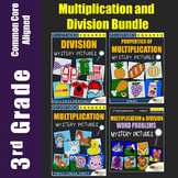 Division Word Problems, 3rd Grade Multiplication Center Activities Bundle