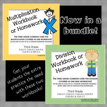 Multiplication and Division Workbooks Bundle