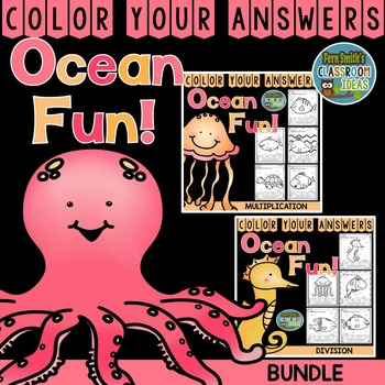 Color By Numbers Ocean Multiplication and Division