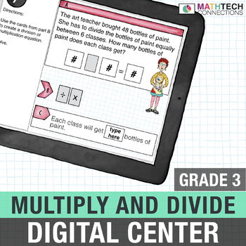 Multiplication and Division 3rd Grade Digital Math Center - Paperless Resource