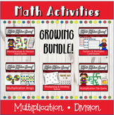 Distance Learning Math Multiplication and Division Activit