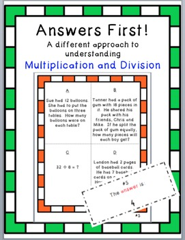 Multiplication and Division Activity (Great Test Review)