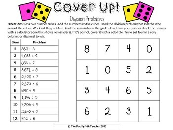Multiplication and Division Games Math Pack