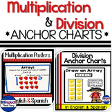 Multiplication and Division Anchor Chart Posters Bundle in