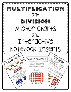 Multiplication and Division Anchor Charts