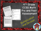 Multiplication and Division Assessment CCSS Aligned