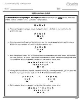 Multiplication and Division: Associative Property of Multiplication  pgs. 18-20