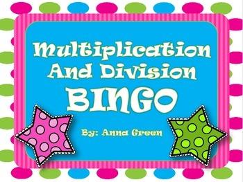 Multiplication and Division BINGO