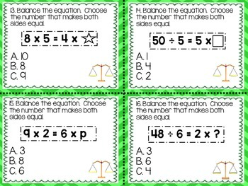 Multiplication and Division: Balanced Equations