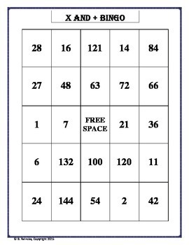 Multiplication and Division Basic Facts Bingo (30 pre-made cards!)