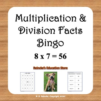 Multiplication and Division Basic Facts Bingo (30 pre-made