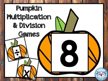 Multiplication and Division Basic Facts Game with Pumpkins