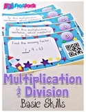 Multiplication and Division Basics Task Cards with QR Codes