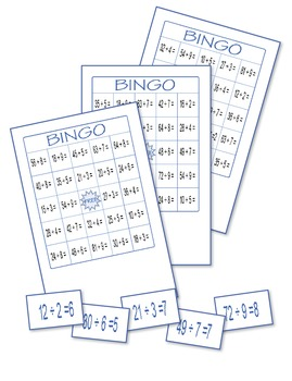 Multiplication and Division Bingo ♥ BUNDLE ♥