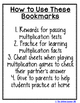 Multiplication and Division Bookmarks BUNDLE!