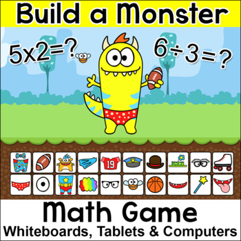 Monster Multiplication and Division Math Game - Math Centers