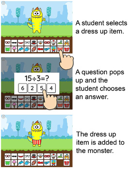 Monster multiplication and division math game math - Div games studio ...