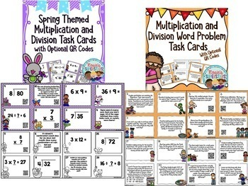 Multiplication and Division Activities Bundle