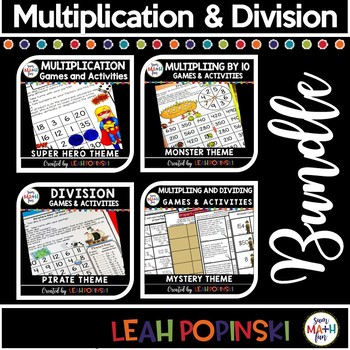 Multiplication and Division - Bundled! Concepts, Games, Facts, Review, Practice