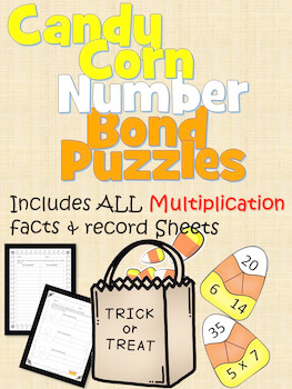 Multiplication and Division Candy Corn Number Bond Puzzles!