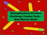 Multiplication and Division Challenge Combo Pack - Mad Minute Math