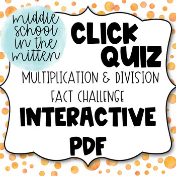 Multiplication and Division Challenge Interactive PDF