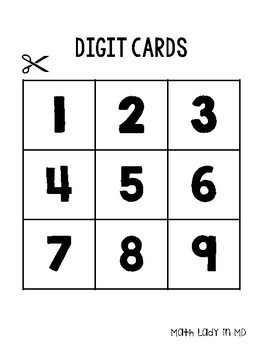 Multiplication and Division Challenges with Digit Cards