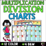 Multiplication and Division Charts (4 total-2 in color and 2 in b/w)