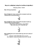 Multiplication and Division Cheat Sheet